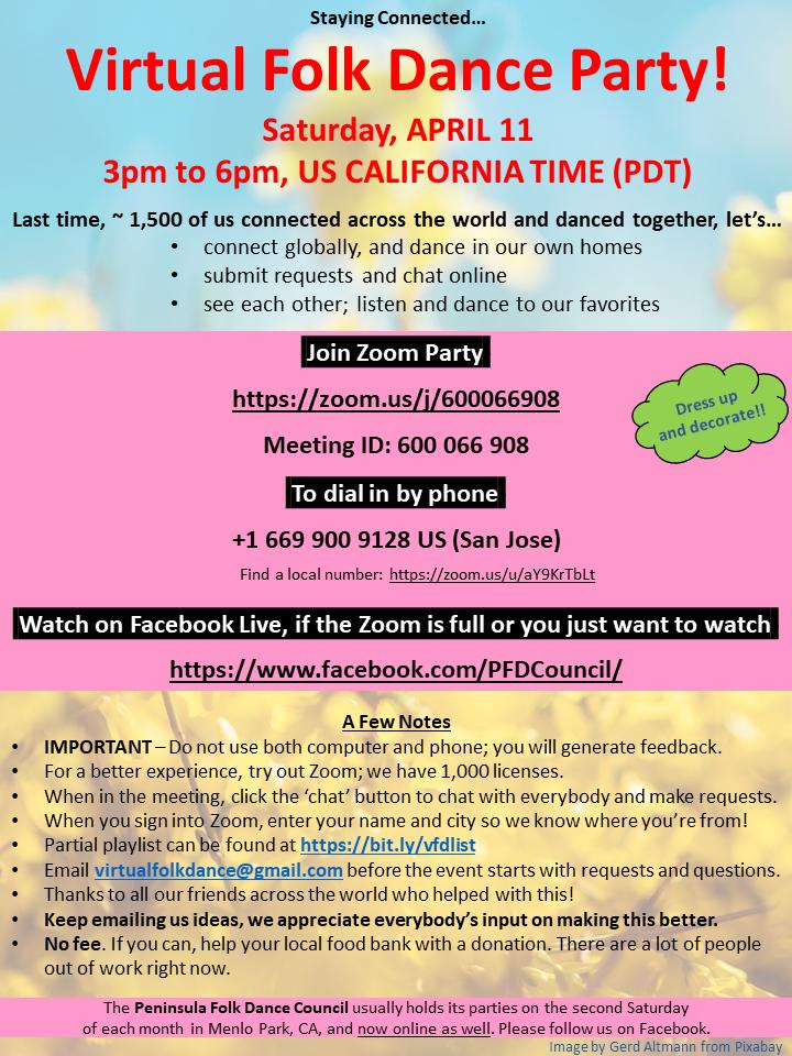Virtual Folk Dance Party - April 11